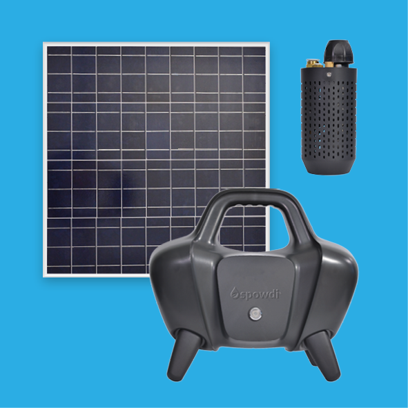 The solar-powered water supply system Spowdi mobile pro